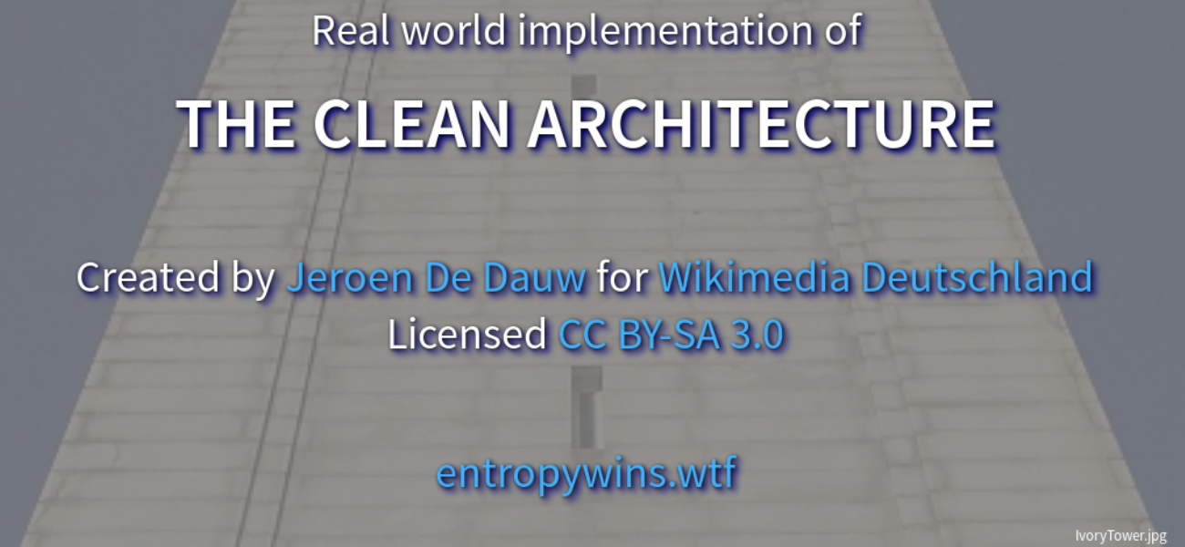 Real world implementation of The Clean Architecture - slide preview
